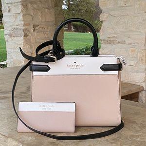 NWT kate spade Staci handbag&wallet leather